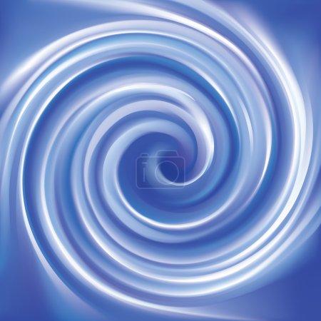 Illustration pour Vector merveilleux futuriste doux curvy outremer ondulé fond avec de l'espace pour le texte. Belle surface fluide volute couleur cobalt profond vif - image libre de droit