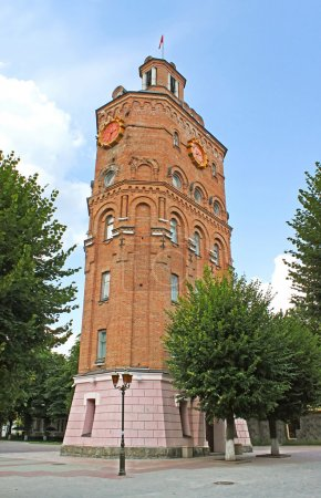 Old fire tower with clock (1911), Vinnytsia, Ukraine