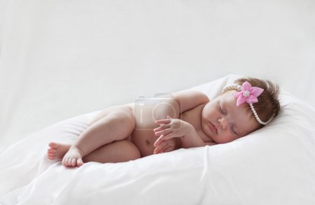 Baby Girl sleeping in Summer Day at Home