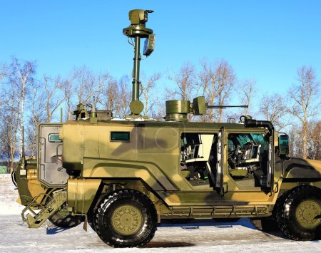 Armored car with armaments