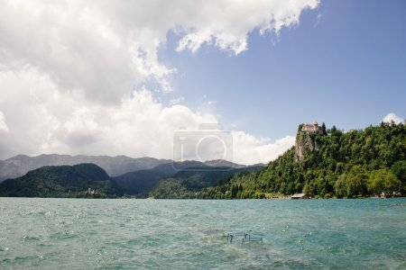 Bled Castle built on top of a cliff