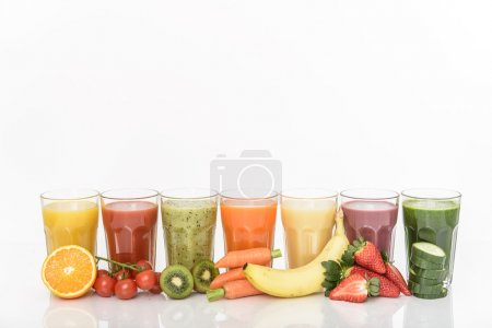 Photo for Healthy mixed fruit smoothie - Royalty Free Image