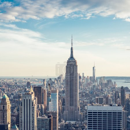 New York City, Manhattan skyline aerial view with Empire State building