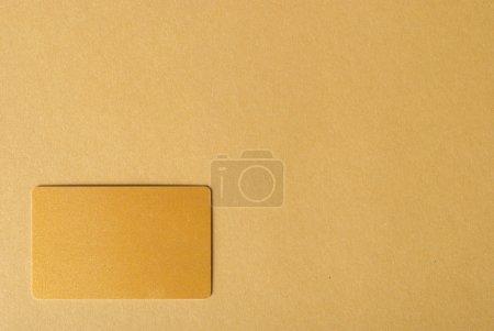 Brown card on desk