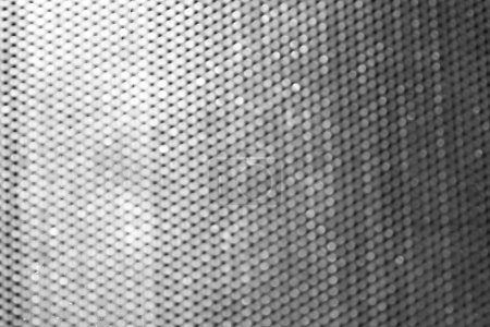 Blurred metal grid