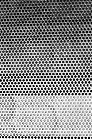 Metal texture with circle pattern