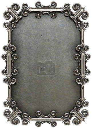 metal plate framed