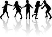 Tančící siluety dětí