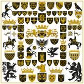 Heraldik-Wappen und Symbole