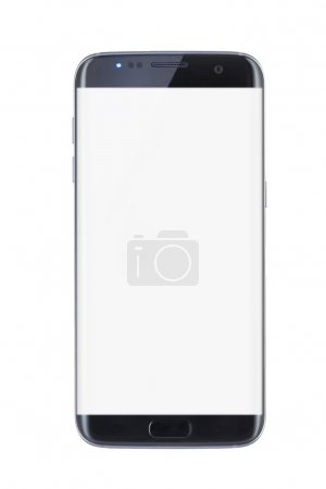 Photo for Studio shot of a black Edge smartphone isolated - Royalty Free Image