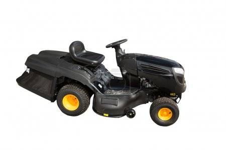 New ride on lawn tractor isolated