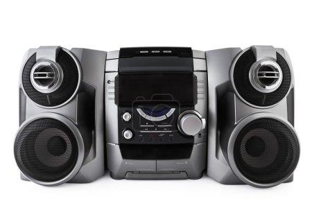 Photo pour Compact système stéréo cd et lecteur cassette isolé avec un tracé de détourage - image libre de droit