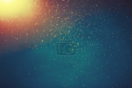 Abstract snow, light bokeh background, Vintage