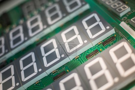 Photo for Circuit board for electronic components with digital displa - Royalty Free Image