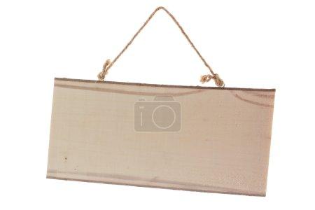 Photo pour Repertoire des renseignements en bois. Signer un pointeur vers le jury isolé sur fond blanc - image libre de droit