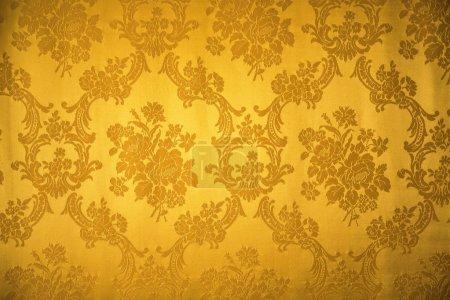 Golden vintage ornament textile pattern