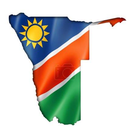 Carte du drapeau namibien