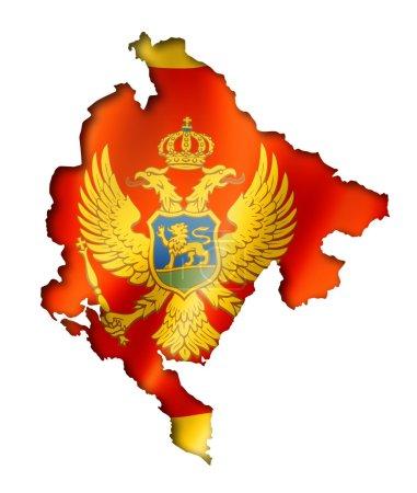 Carte du drapeau Monténégro
