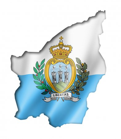 Carte du drapeau de Saint-Marin