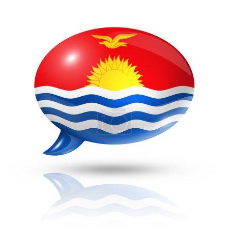 Kiribati flag speech bubble