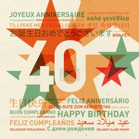 Carte d'anniversaire 40e anniversaire du monde