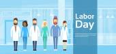 Medical Team Doctor Group Labor Day May Holiday