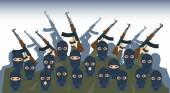 Armed Terrorist Group Terrorism Concept