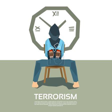 Terrorism Hostage Blindfolded With Bomb Timer