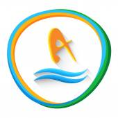 Potápěčský sportovec sportovní hra Logo ikona