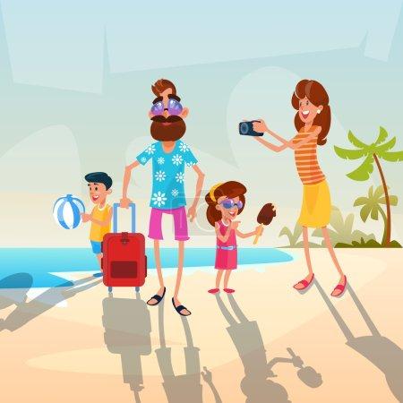 leisure, vector, illustration, happy, holiday, travel - B123271714