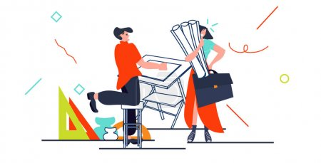 Illustration pour Architectes faisant projet sur bureau réglable designer atelier atelier horizontal pleine longueur illustration vectorielle - image libre de droit