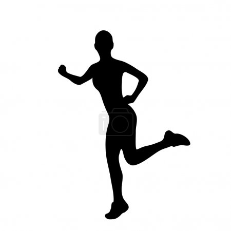 Silhouette of woman doing exercise