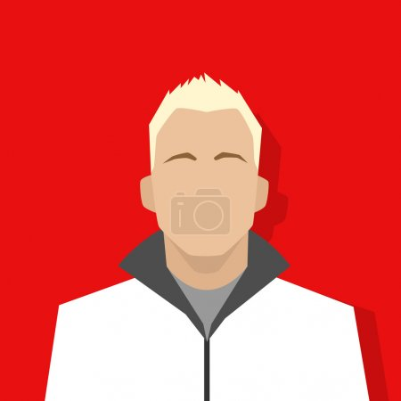Illustration for Profile icon male avatar portrait casual person silhouette face flat design vector - Royalty Free Image