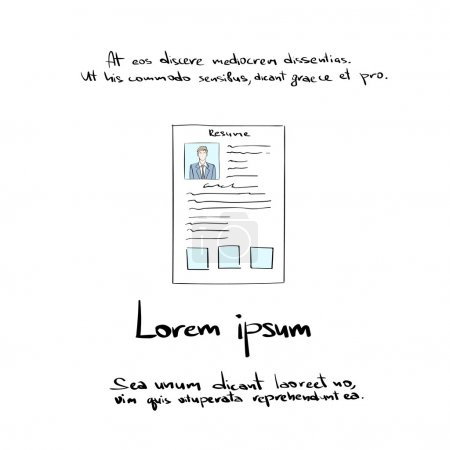 Hand Draw Resume CV Profile