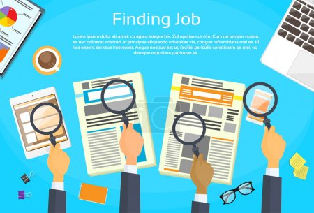 BusinessPeople Hands Searching for Job
