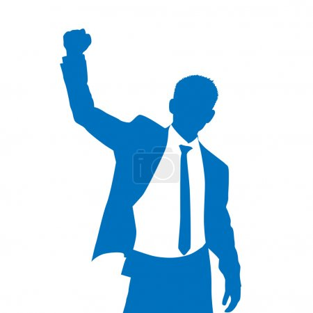 BusinessMan Silhouette Excited