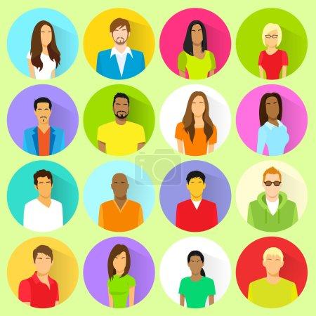 people Avatars icons set