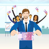 BusinessPeople and  500  Euro Banknote
