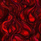 Stained Glass Window in Red