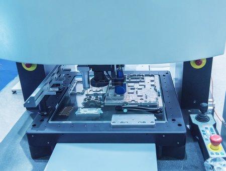 shot of CNC machine