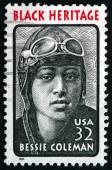 Poštovní známka Usa 1995 Bessie Coleman, letec