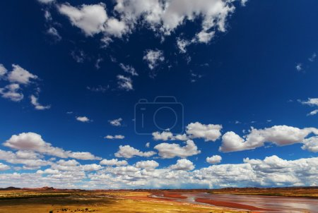 Prairie  landscapes with white clouds