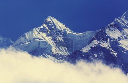 mountains in Kanchenjunga region