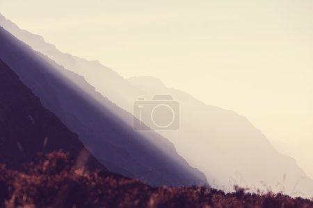 Beautiful mountain silhouette