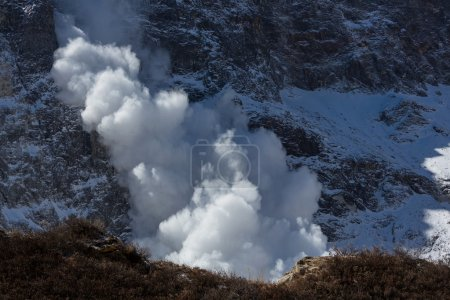 Avalanche in Himalaya mountains