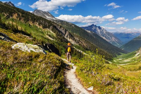 man in mountains in Canada
