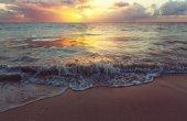 Scenic sea sunset
