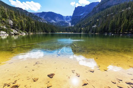 Photo for Lake in Rocky mountains - Royalty Free Image