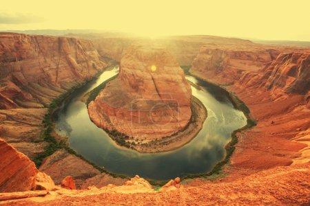 Photo pour Horse Shoe Bend à Canyon - image libre de droit