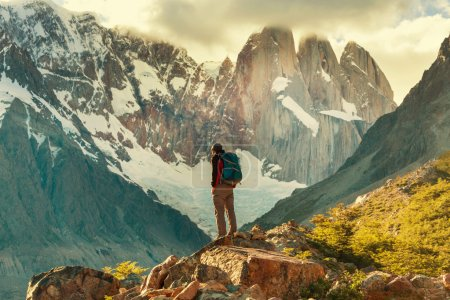 Man Hiker in Patagonia